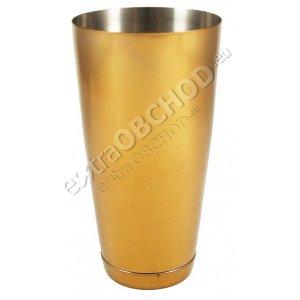 Barmanský kufr - zlatý metal