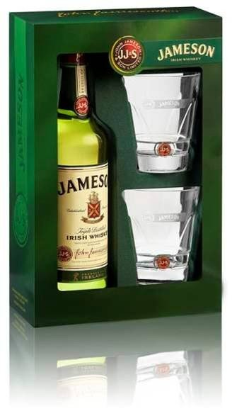 Jameson 0,7l 40% + 2 skla