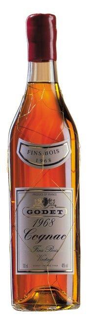 Godet Millesimes Petit Champagne ročník 1968 - dřevěná kazeta