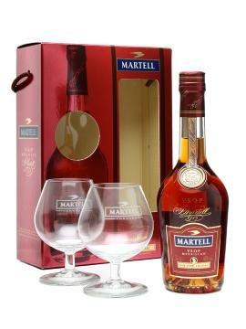 Martell VSOP 0,7l 40% + 2x sklo 0,7l