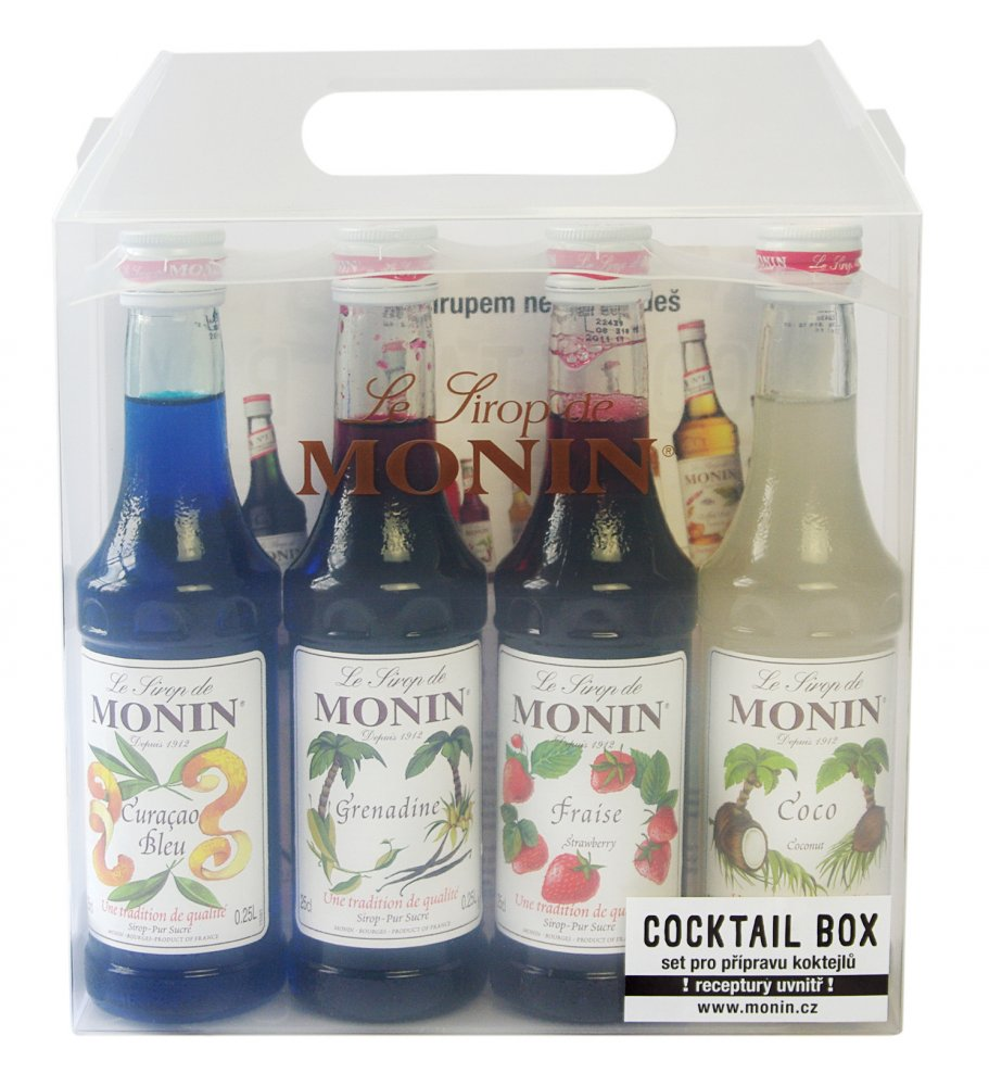 Monin Cocktail box 4 x 0,25l