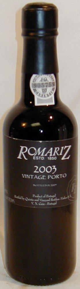 Romariz Porto Vintage 2003 0,75l 20%