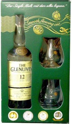 Glenlivet 12y 0,7l 40% + 2x sklo GB