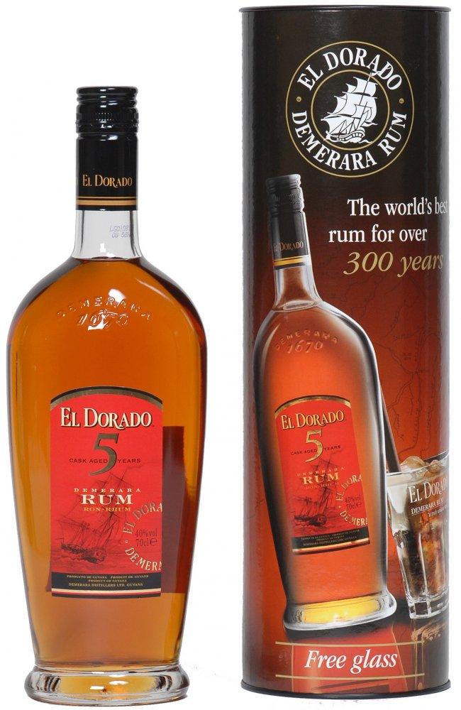 El Dorado 5YO 0,7l 40% + 1 sklo