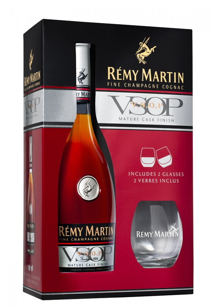 Rémy Martin VSOP 0,7l 40% + 2x sklo