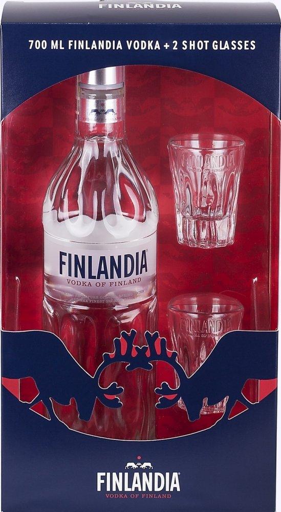 Vodka Finlandia 0,7l 40% + 2x Sklo