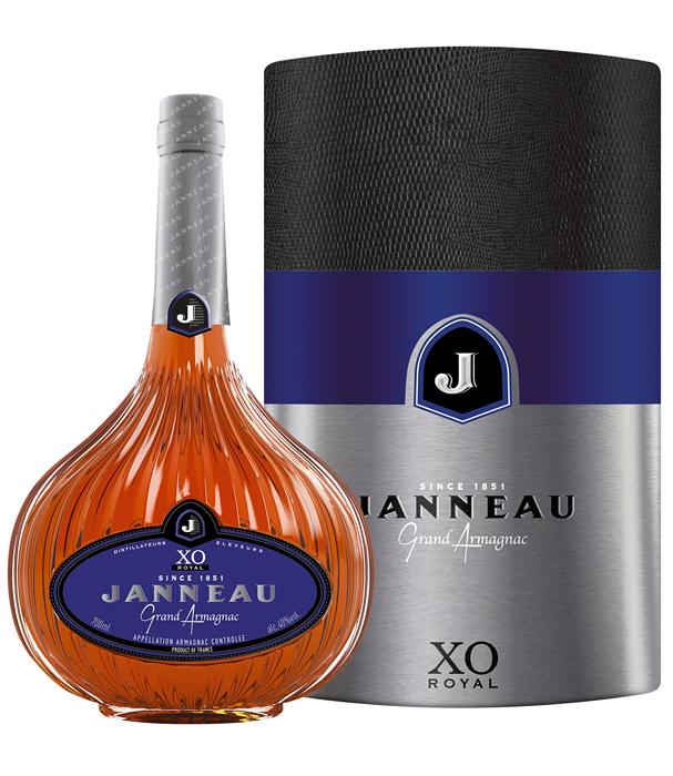 Janneau XO 0,7l 40% + plechová tuba