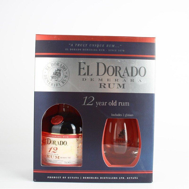 Rum El dorado 12YO 0,7l 40% + sklo