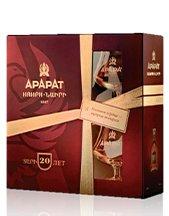Brandy Ararat 10YO 0,7l 40% + 2x sklo