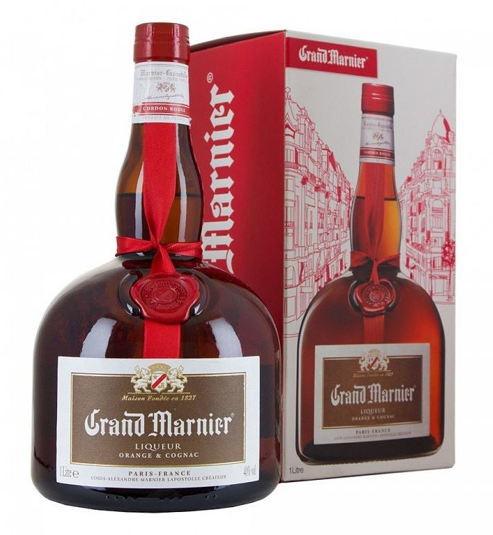 Grand Marnier Cordon Rouge 1l 40% GB + 1x Sklo