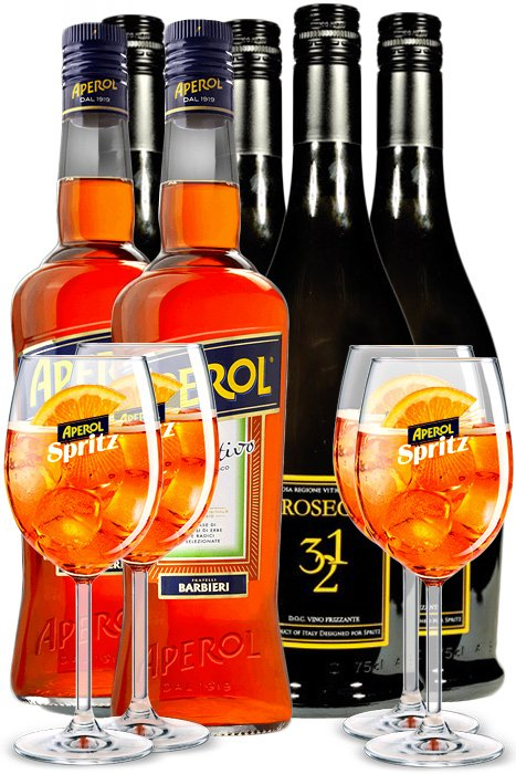 Aperol + 4x Prosecco 321 + 4x Sklo 4,4l 11%