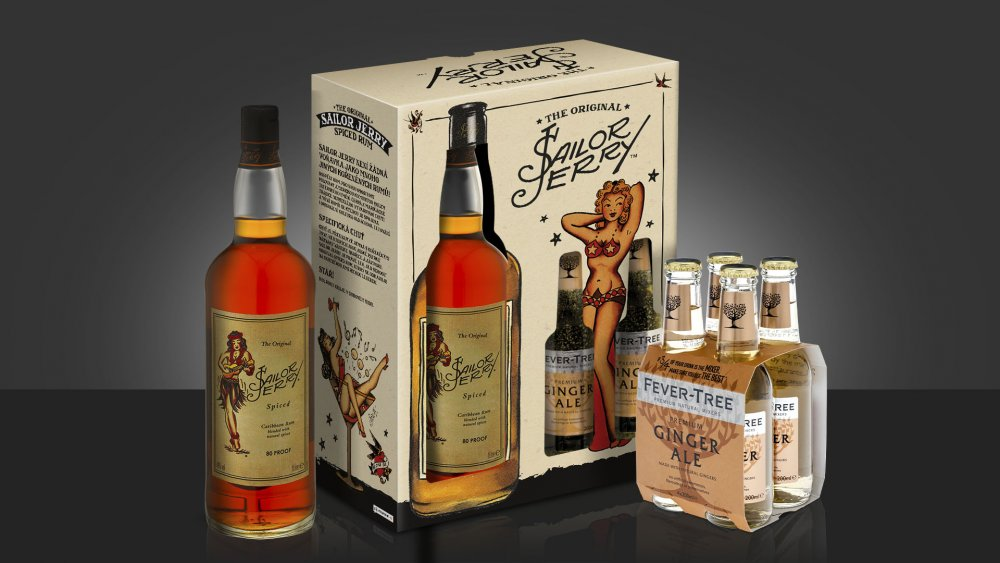 Sailor Jerry Spiced Rum 0.7l + 4x 0,2l Fever-Tree Ginger Ale 0,7l