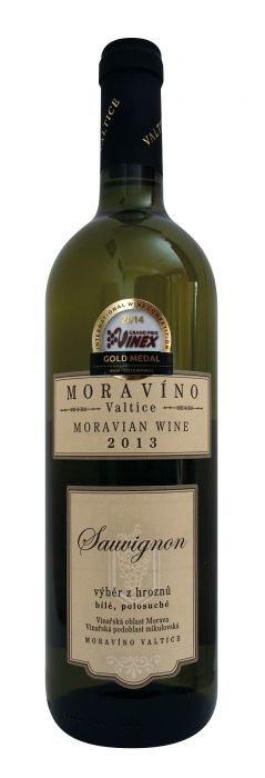 Moravíno Valtice Sauvignon Blanc Pozdní sběr 2015 0,75l 13%