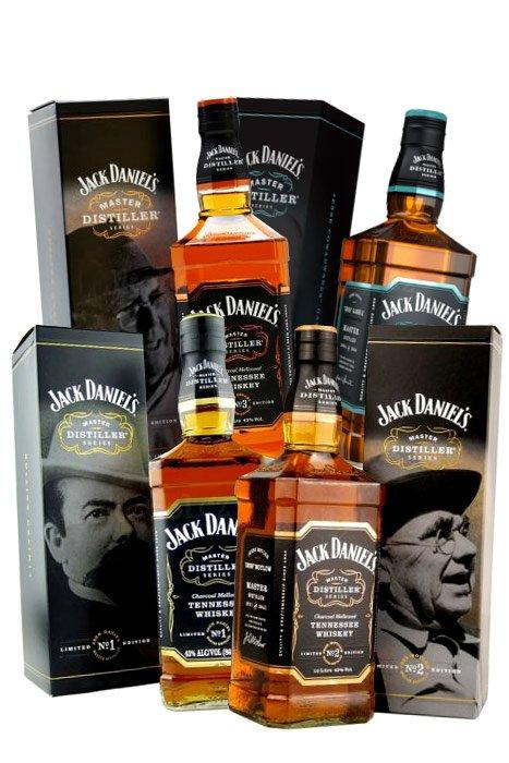 Jack Daniel's Master Distiller Series No.1, 2, 3 a 4 4×0,7l 43%