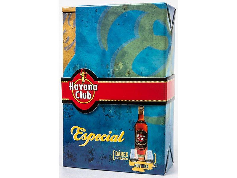Havana Club Añejo Especial 0,7l 40% + 2x sklo GB 2016