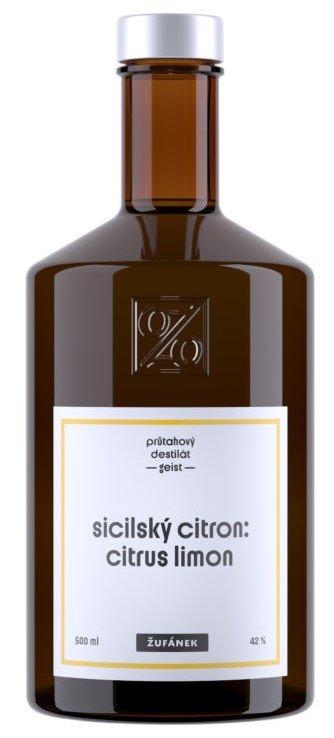 Sicilský citron Žufánek 0,5l 42%