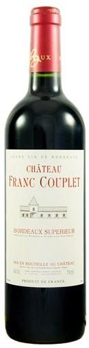Chateau Franc Couplet Bordeaux rouge 2014 0,75l 13.5%