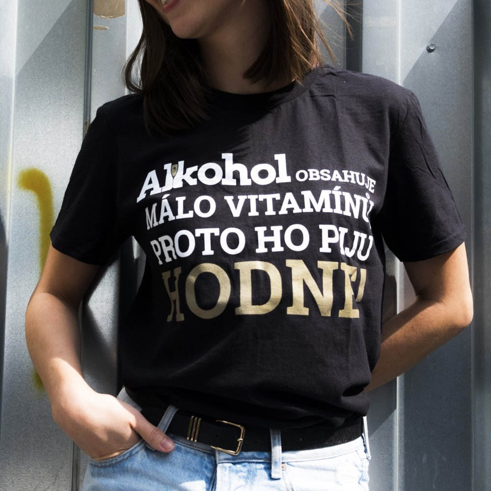 Tričko Alkohol.cz Vitamíny L