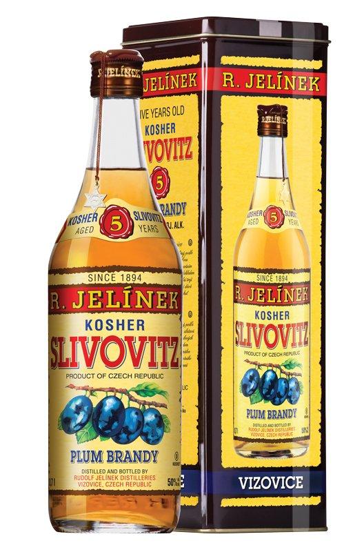 Slivovice Kosher Gold 5y 0,7l 50% Plech