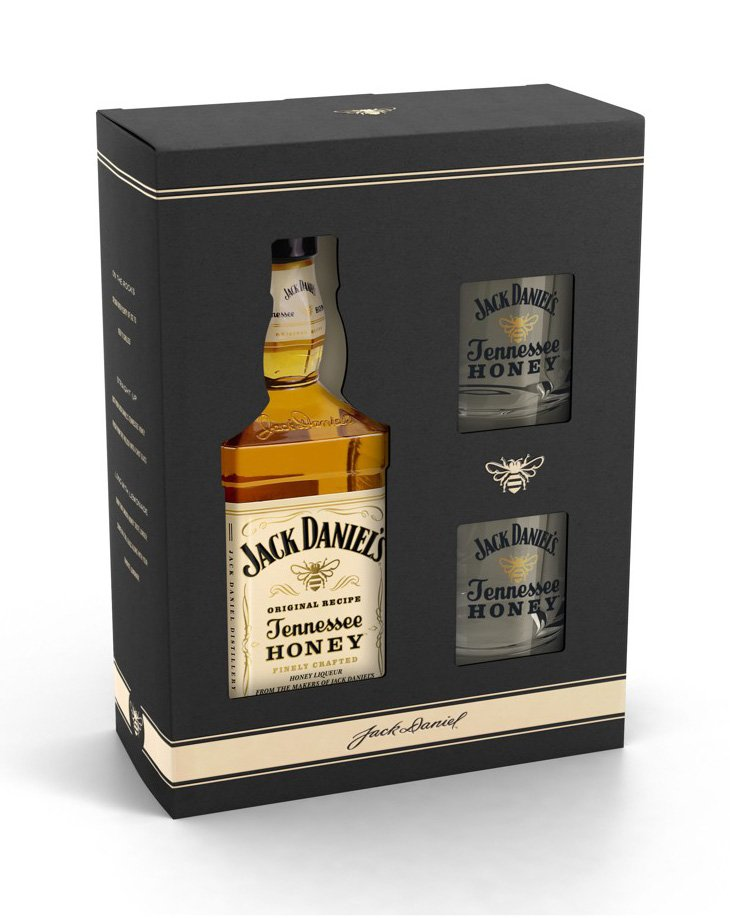 Jack Daniels Honey 0,7l 35% L + 2 skla