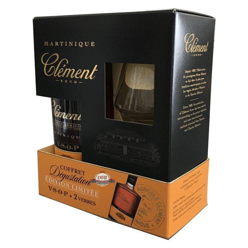Clement Vieux VSOP 4y 0,7l 40% + 2x sklo GB