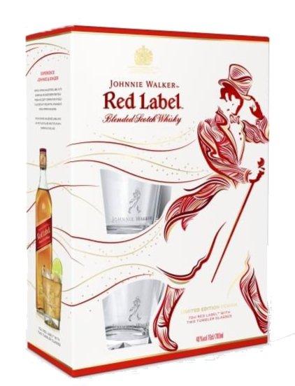 Johnnie Walker Red Label 0,7l 40% + 2x sklo GB