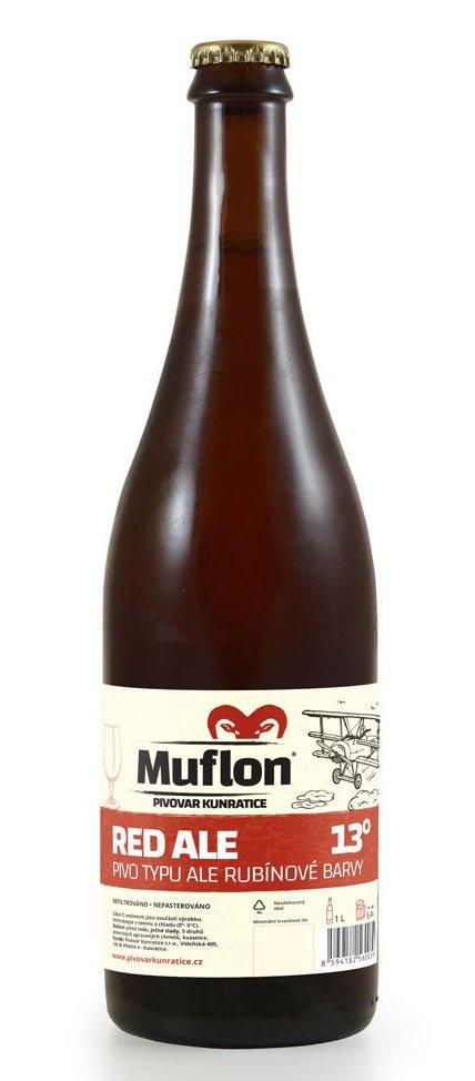 Muflon Red Ale 13° 0,75l 5,4% Sklo