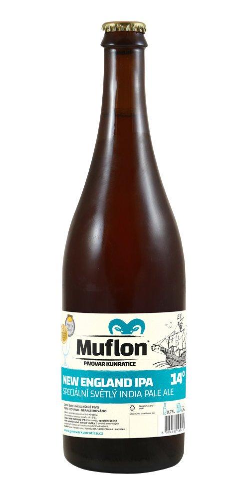 Muflon New England IPA 14° 0,75l 6,5% Sklo