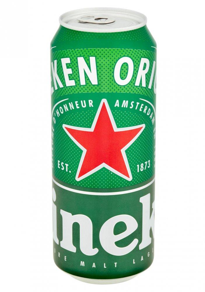Heineken 11° 4×0,5l 5% Plech Sklo