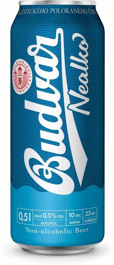 Budweiser Budvar Nealko 6×0,5l 0,5% Plech Sklo