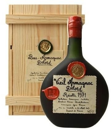 Armagnac Delord 1971 0,7l 40% Dřevěný box