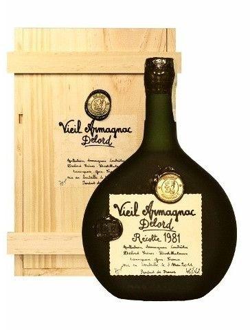 Armagnac Delord 1981 0,7l 40% Dřevěný box