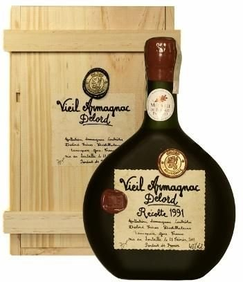 Armagnac Delord 1991 0,7l 40% Dřevěný box