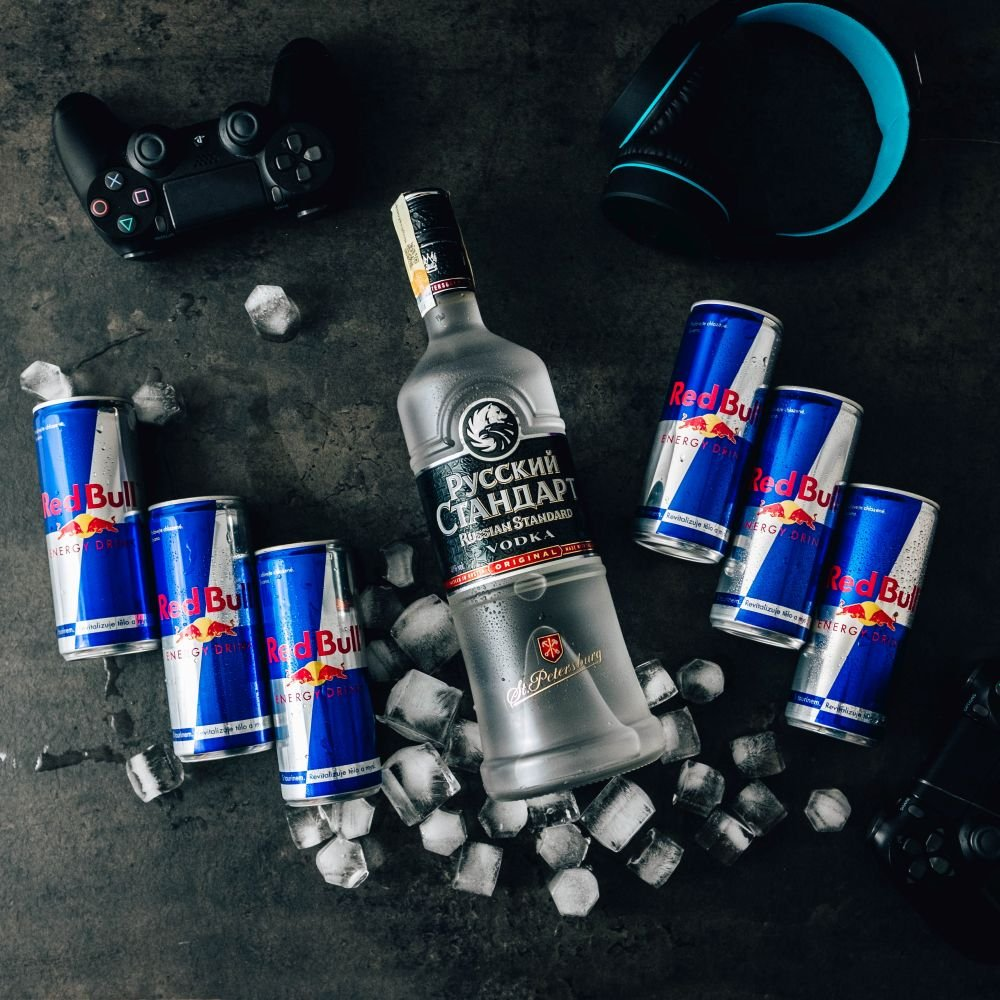 Russian Standard & Red Bull set