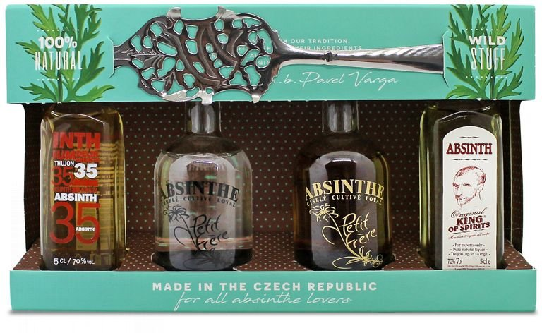 Absinthe Exclusive mini collection 4×0,05l