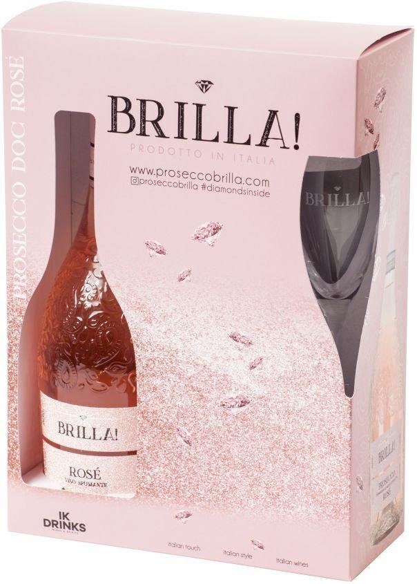 BRILLA! Prosecco Rosé DOC Extra Dry 0,75l 11% + 2x sklo GB