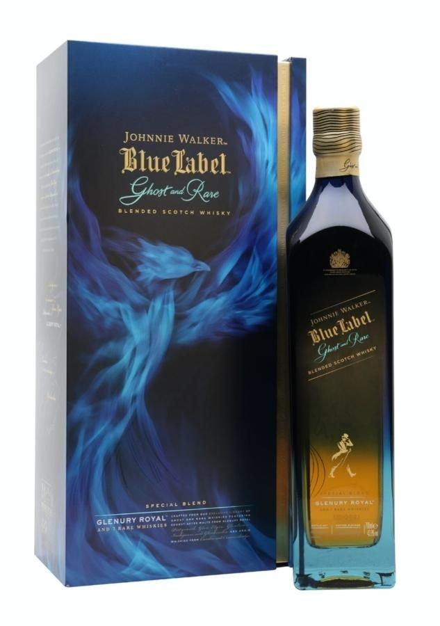 Johnnie Walker Blue Label Ghost and Rare Glenury Royal 0,7l 43,8% GB LE