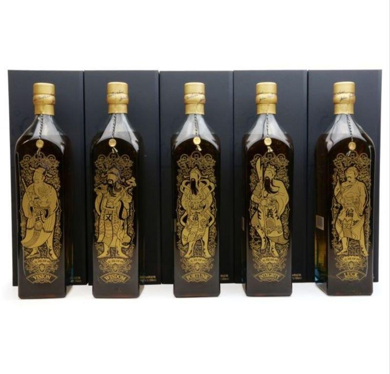 Johnnie Walker Blue Label Five Gods of Wealth 5×1l 40% GB LE