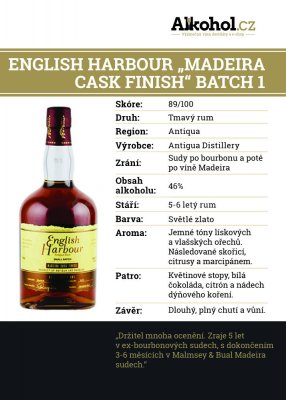 "English Harbour ""Madeira Cask Finish"" Batch 1 0,04l 46%"