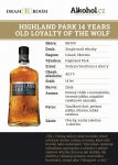 Highland Park Loyalty Of The Wolf 14y 0,04l 42,3%