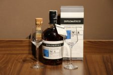 Aukce Diplomatico Distillery Collection No.1, No.2 2×0,7l 47% s podpisem