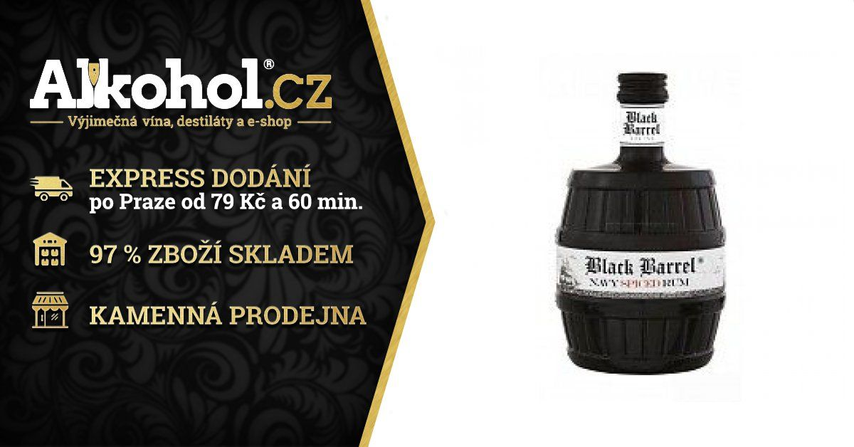 A H Riise Black Barrel Spiced 0 7l 40 Alkohol Cz