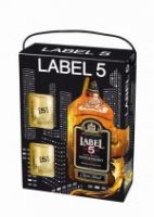 Label 5 0,7l 40% + 2x sklo 0,7l