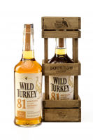 Wild Turkey 81 Proof 8y 0,7l 40.5% Dřevěný box
