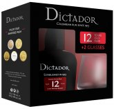 Dictador 12y 0,7l 40% + 2x sklo GB