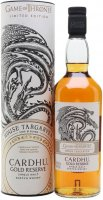 Game of Thrones House Targaryen - Cardhu Gold Reserve 0,7l 40% Tuba