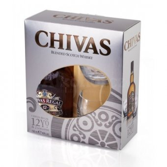 Chivas Regal 12y 0,7l 40% + 2x sklo 0,7l