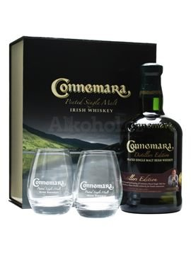 Connemara Peated 0,7l 43% + 2x sklo GB