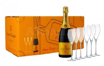 Veuve Clicquot Party Set Brut 6×0,75l 12% + 6x sklo GB