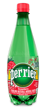 PERRIER Strawberry Mineral voda perlivá 0,5l PET